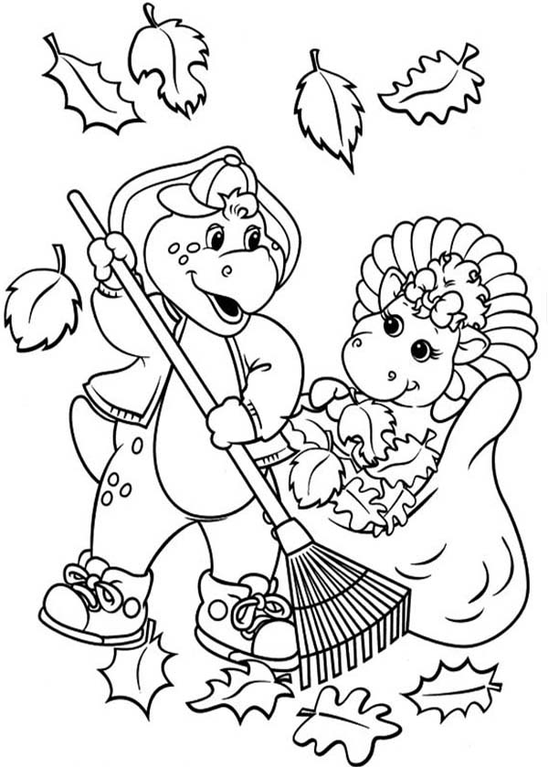 600x840 Barney Halloween Coloring Pages