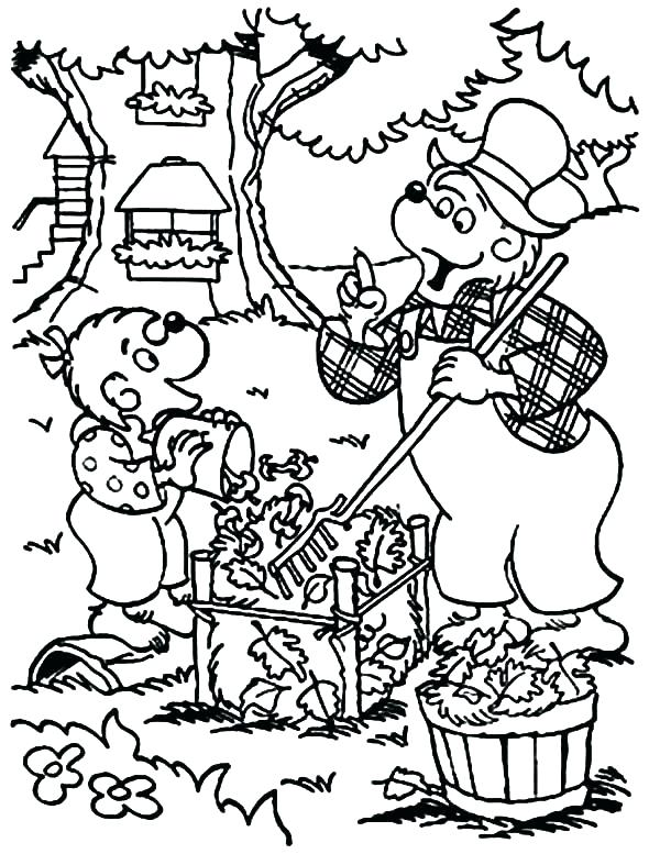 600x777 Treehouse Coloring Pages Coloring Pages Berenstain Bears Treehouse