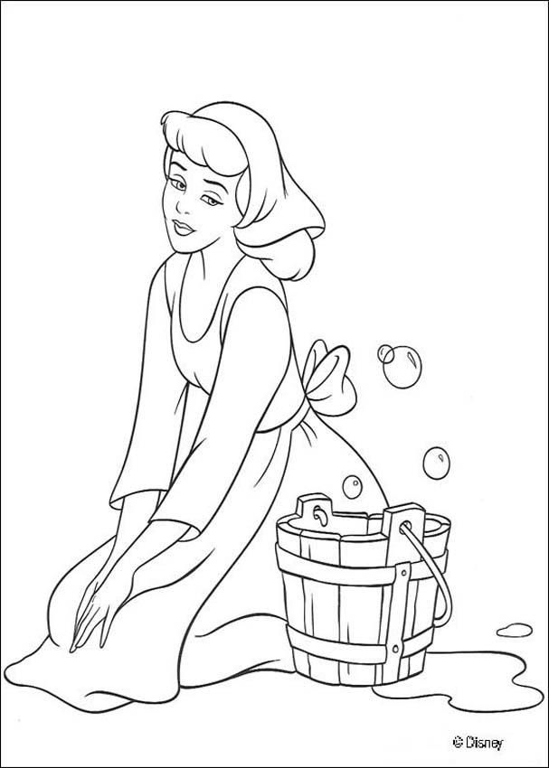 607x850 Princess Cinderella Color Pages Printable Cinderella Coloring