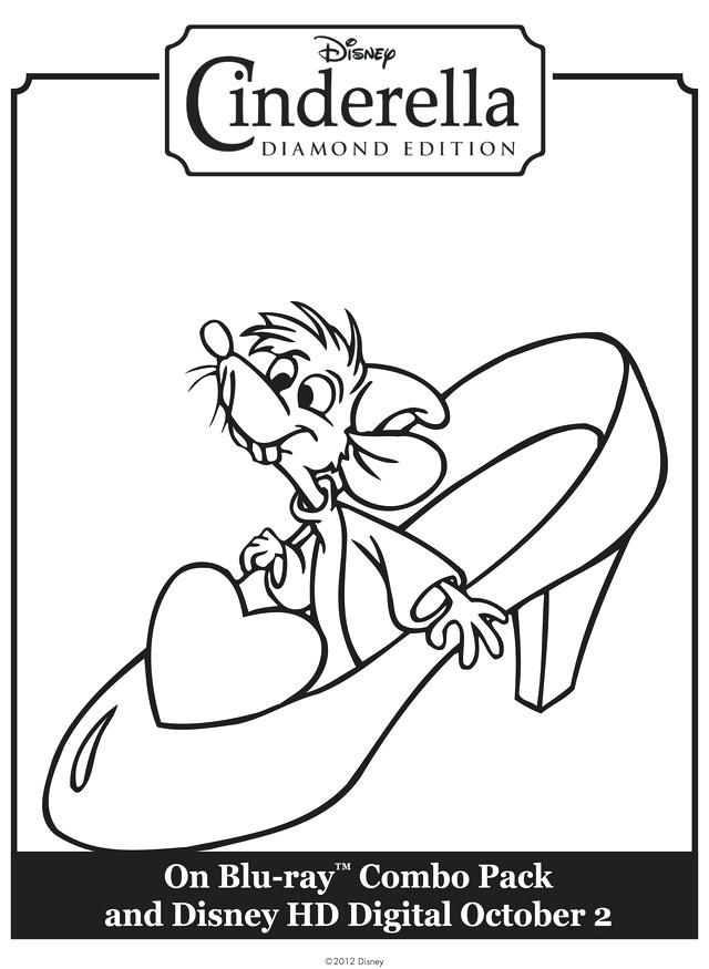 640x875 Cinderella Color Page Cleaning The House Dressing Up Coloring Page