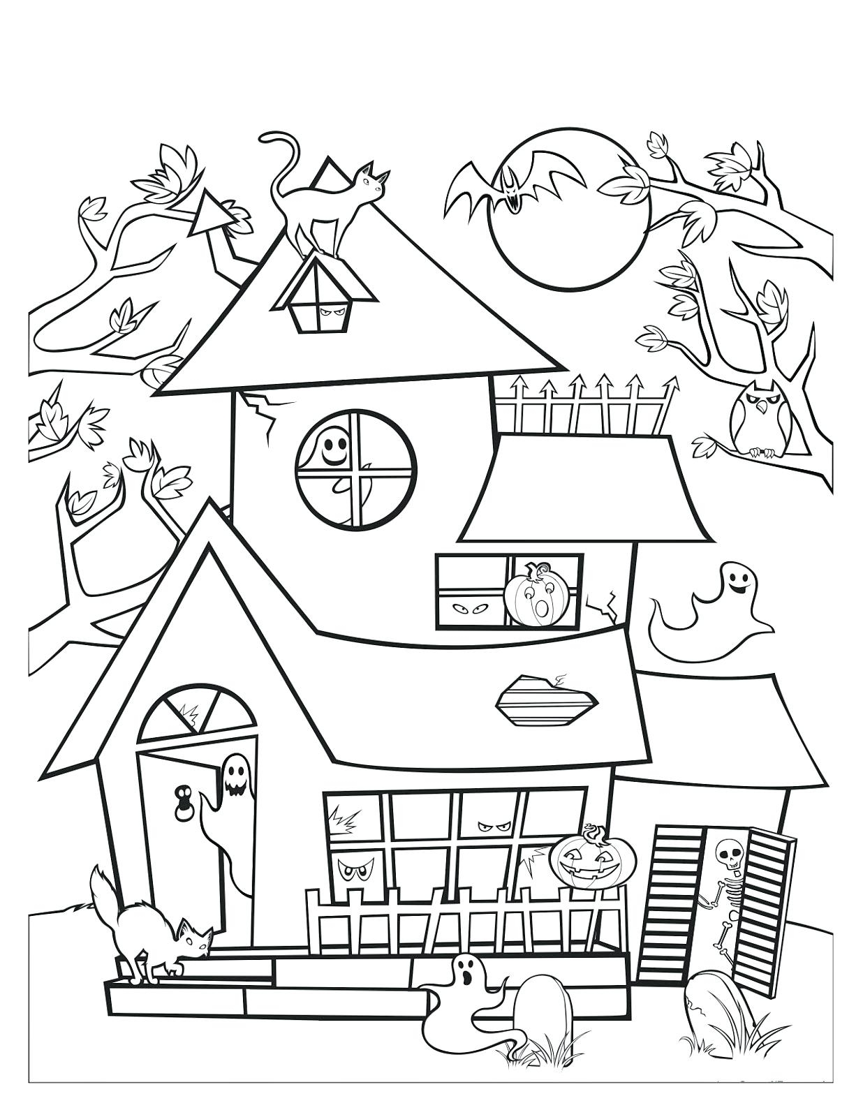 1236x1600 New Coloring Haunted House Coloring Pages Free Coloring Pages