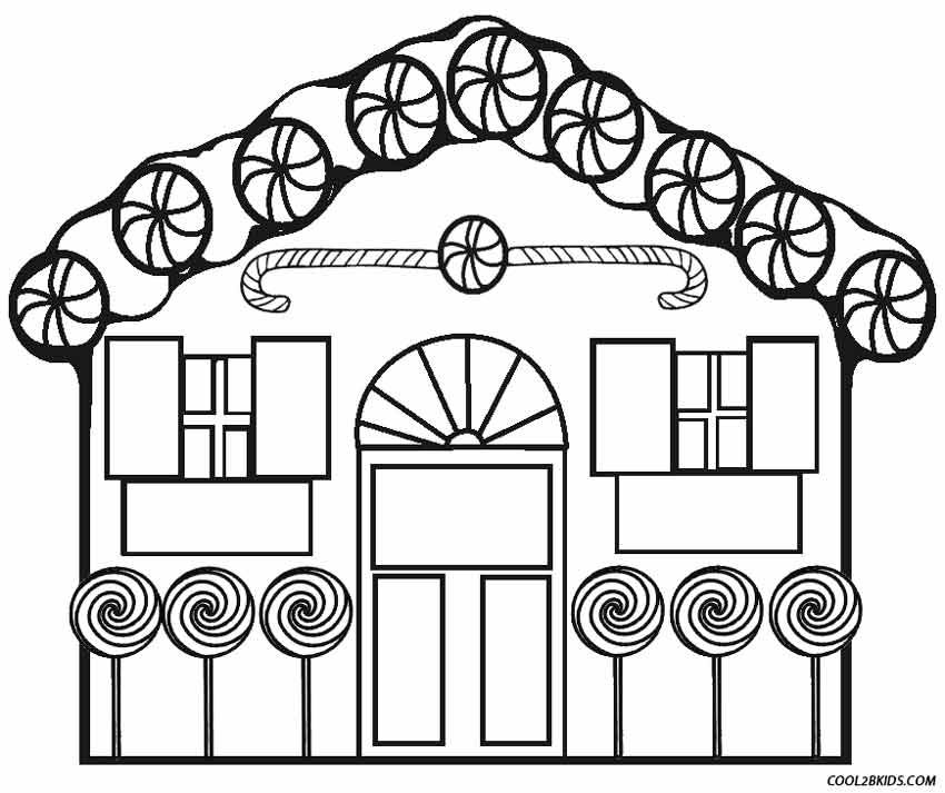 850x713 Printable Gingerbread House Coloring Pages For Kids