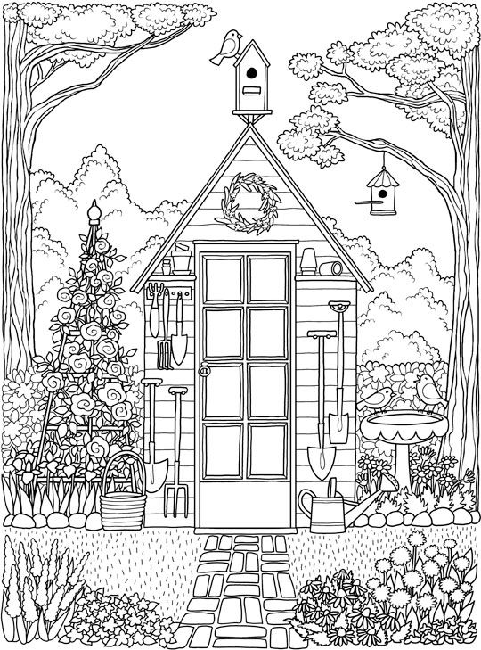 House Coloring Pages For Adults
