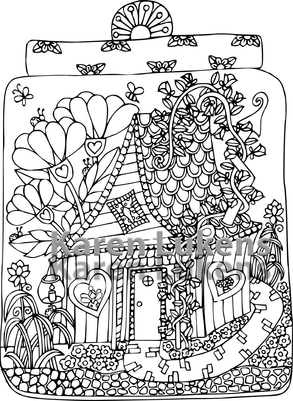 1022x1398 Fairy House Coloring Pages Acpra