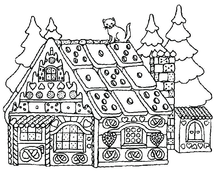 748x624 Free Printable Snow Covered House Coloring Pages Luxury Christmas