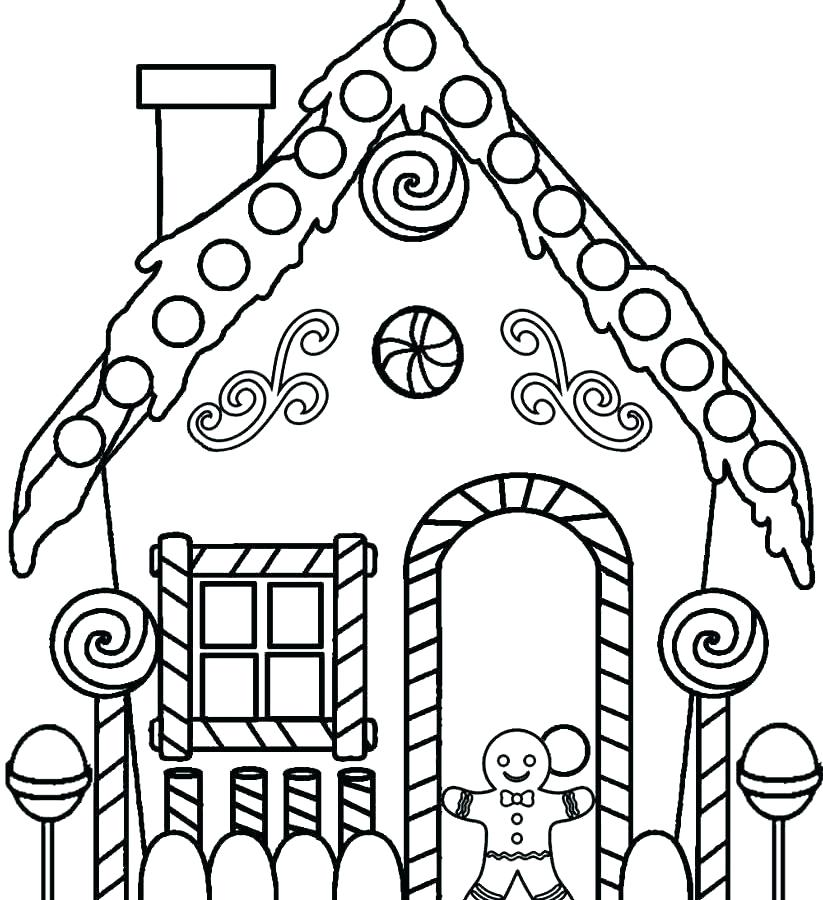 823x900 Gingerbread House Coloring Page House Coloring Pages With Royal