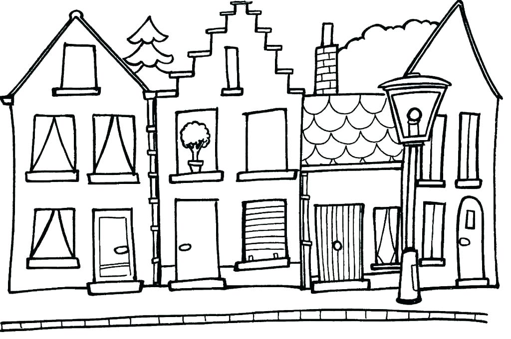 House Coloring Pages For Adults At Getdrawings Free Download