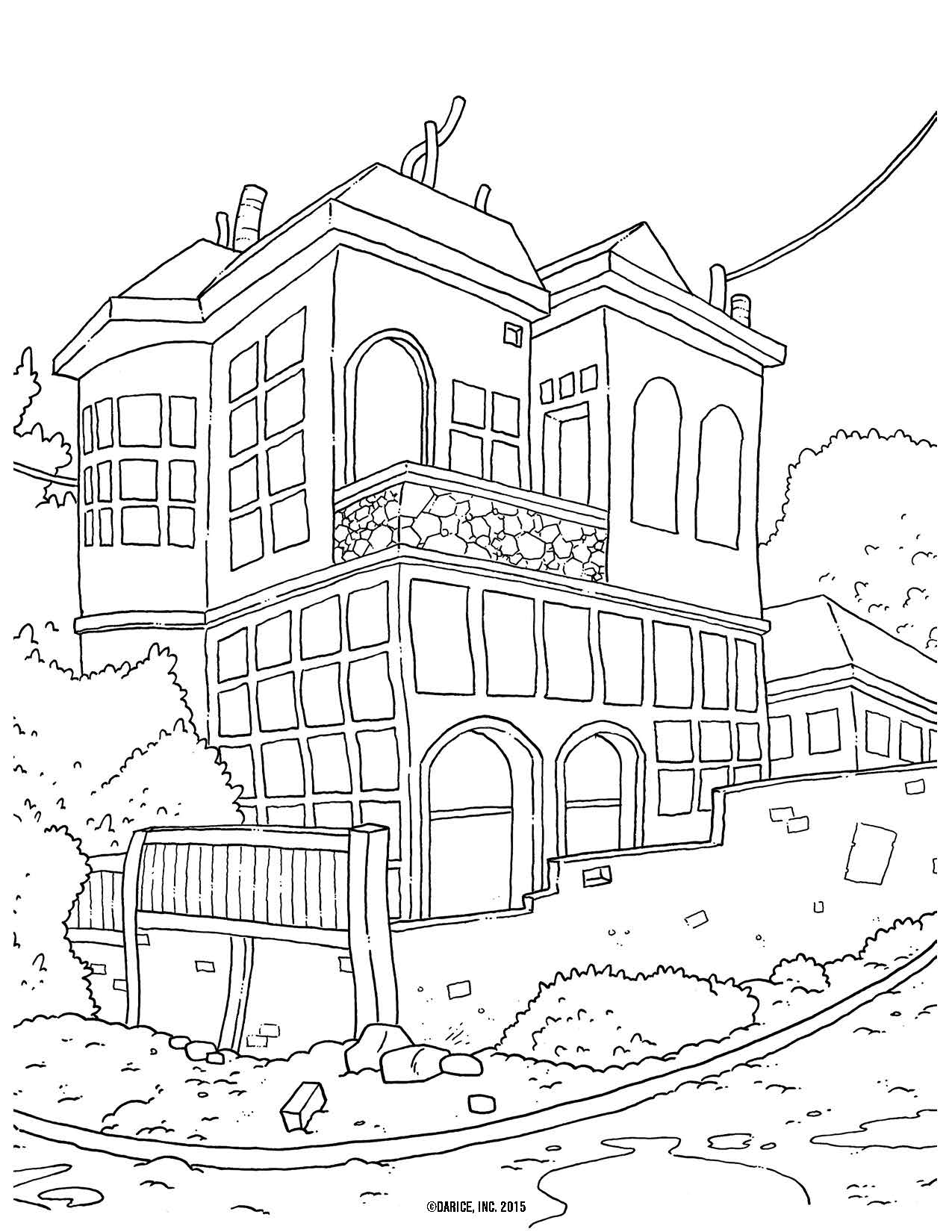 1275x1650 Inspiration House Coloring Pages For Adults