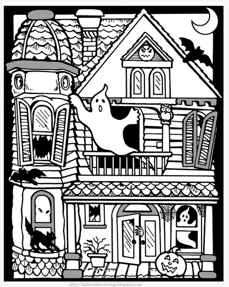 800x1000 Printable Haunted House Coloring Pages Free Coloring Pages Download