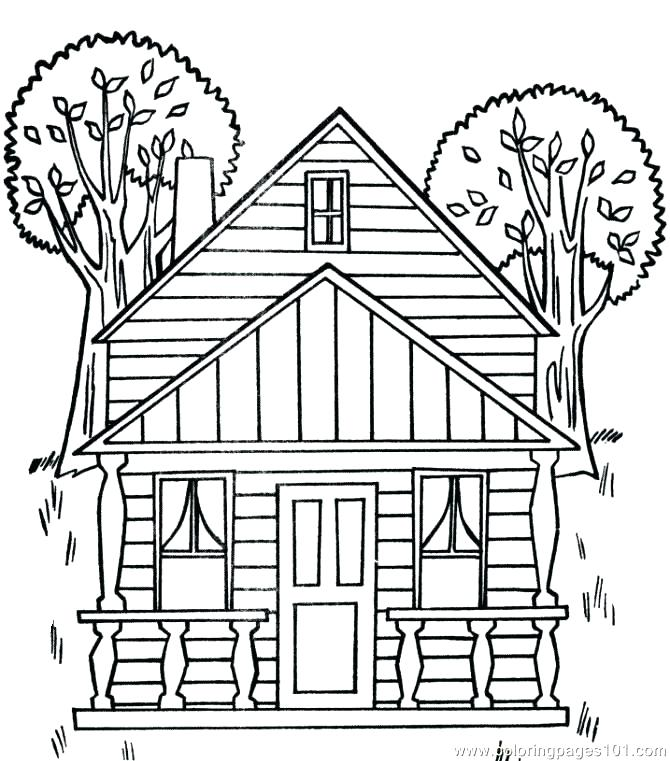 670x761 Coloring Pages House Coloring Pages Of Houses House Coloring Pages