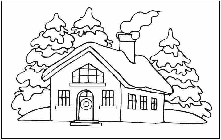 717x454 Free Printable House Coloring Pages For Kids