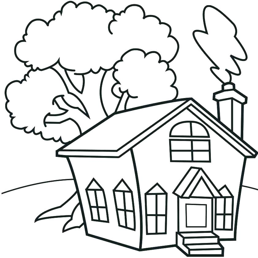 842x842 Haunted House Coloring Pictures Kids Coloring House Coloring Pages