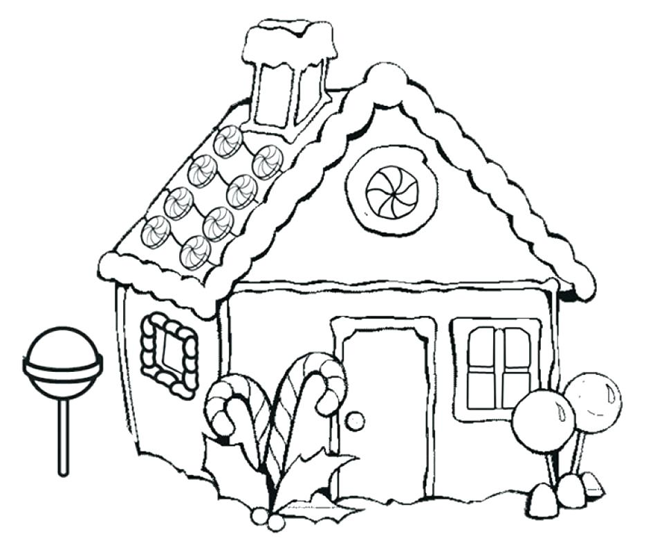 960x784 House Coloring Pages Printable House Color Page Free Gingerbread
