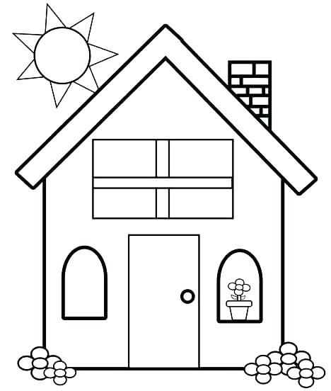 468x552 Simple Coloring Pages Simple Coloring Page House Coloring Pages