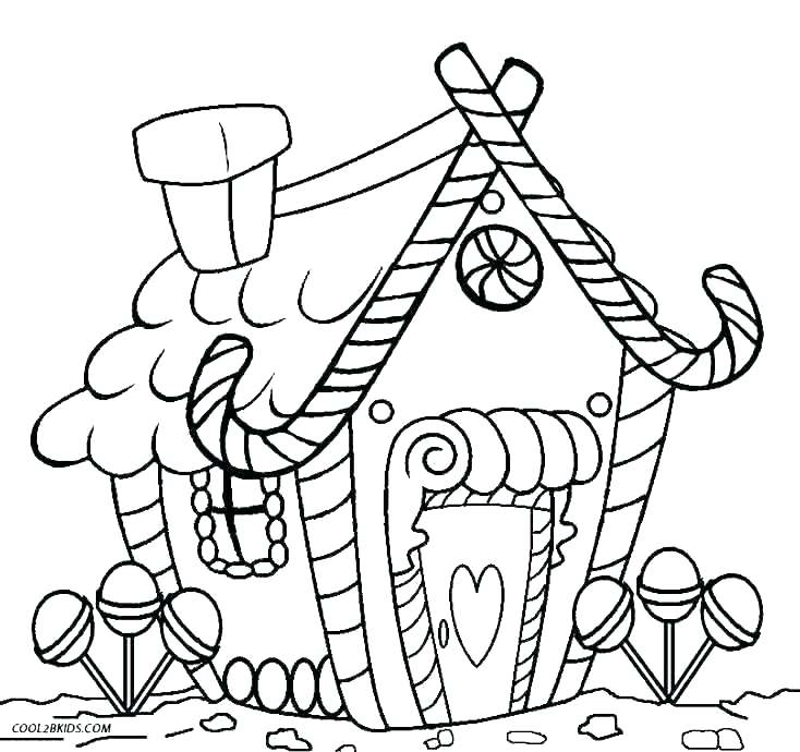 734x690 Doll House Coloring Page Coloring Page Free Houses Coloring Pages