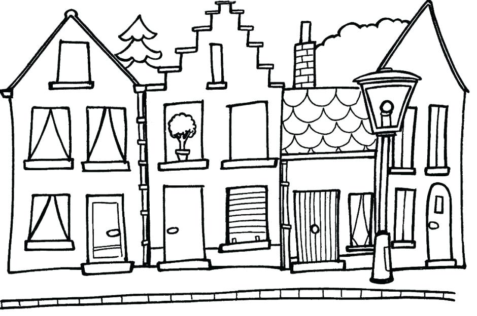 940x624 Farm House Coloring Pages Coloring Pages Of Houses Colouring
