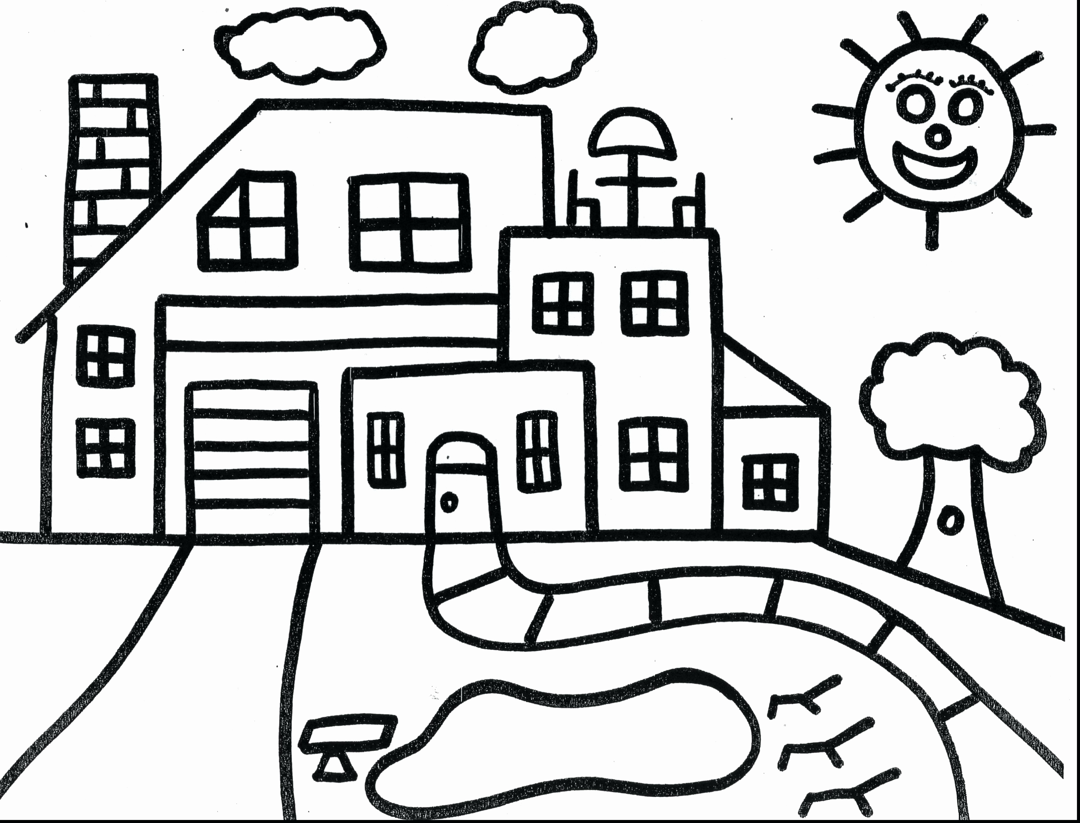 House Coloring Pages For Preschoolers
