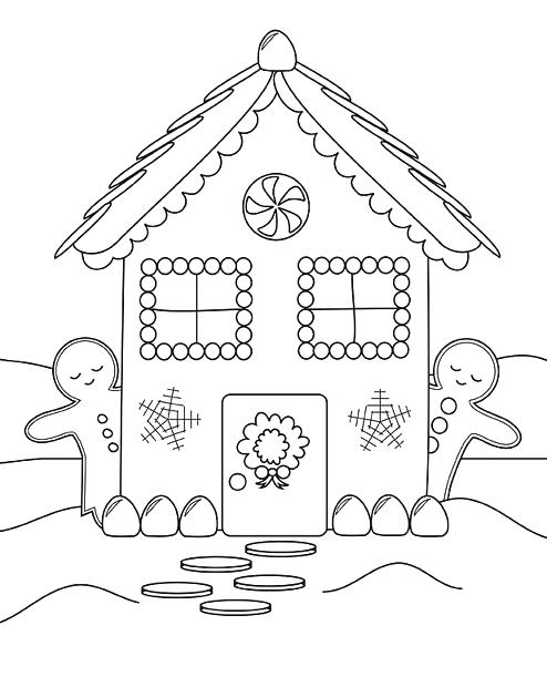 494x611 Gingerbread House Coloring Pages Back To Article A Gingerbread