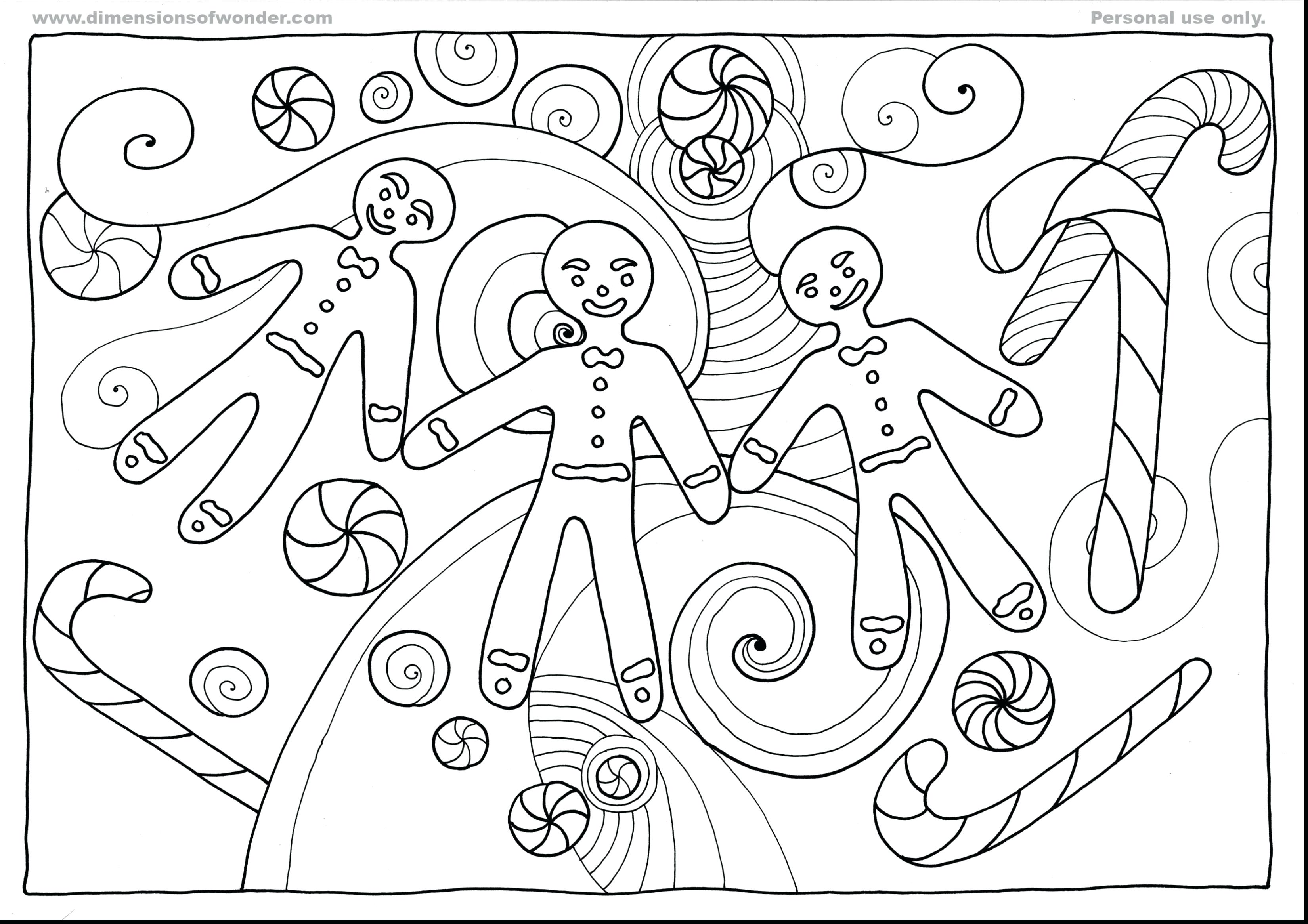 3300x2332 Gingerbread House Coloring Sheets Free Great Outline Page