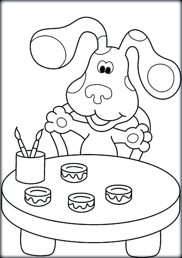 724x1024 Blues Clues Coloring Pages For Preschoolers Color Blues Clues