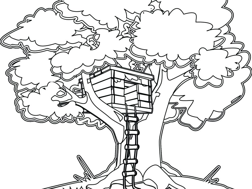 1024x768 House Coloring Pages Free Printable Haunted For Kids Preschool