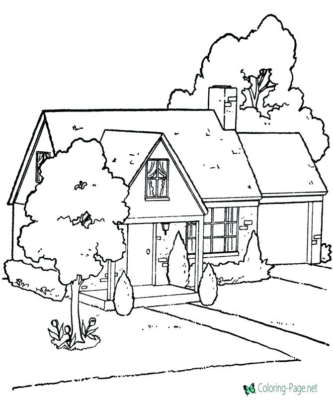 670x820 Candy House Coloring Pages Printable House Coloring House Rooms