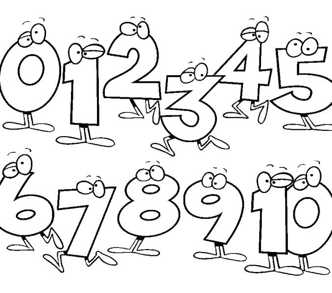 678x600 Numbers For Toddlers Free Coloring Pages For Numbers For Toddlers