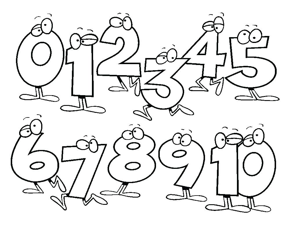 1000x779 Numbers Printables Toddlers Free Coloring Pages
