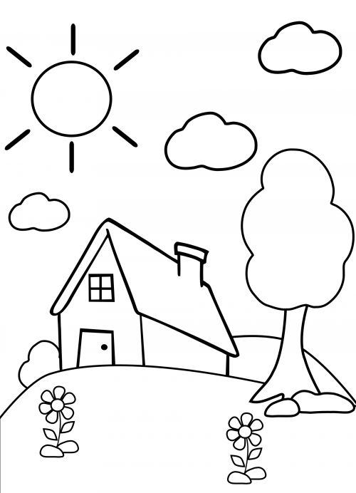500x692 Preschool Coloring Page Home Preschool Colors, Art Therapy