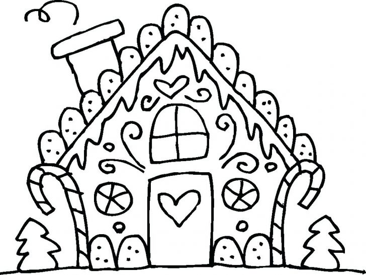 728x546 Preschool Haunted House Coloring Page Gingerbread Pages