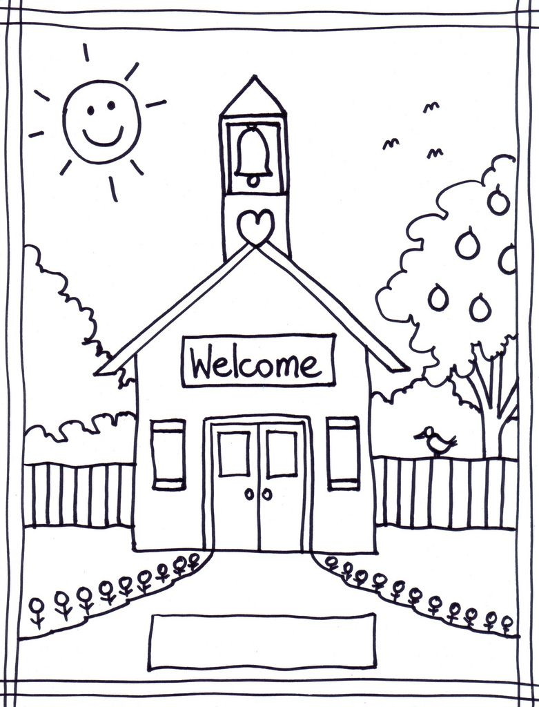 781x1024 Coloring Pages Of School House Coloring Pages Wallpaper
