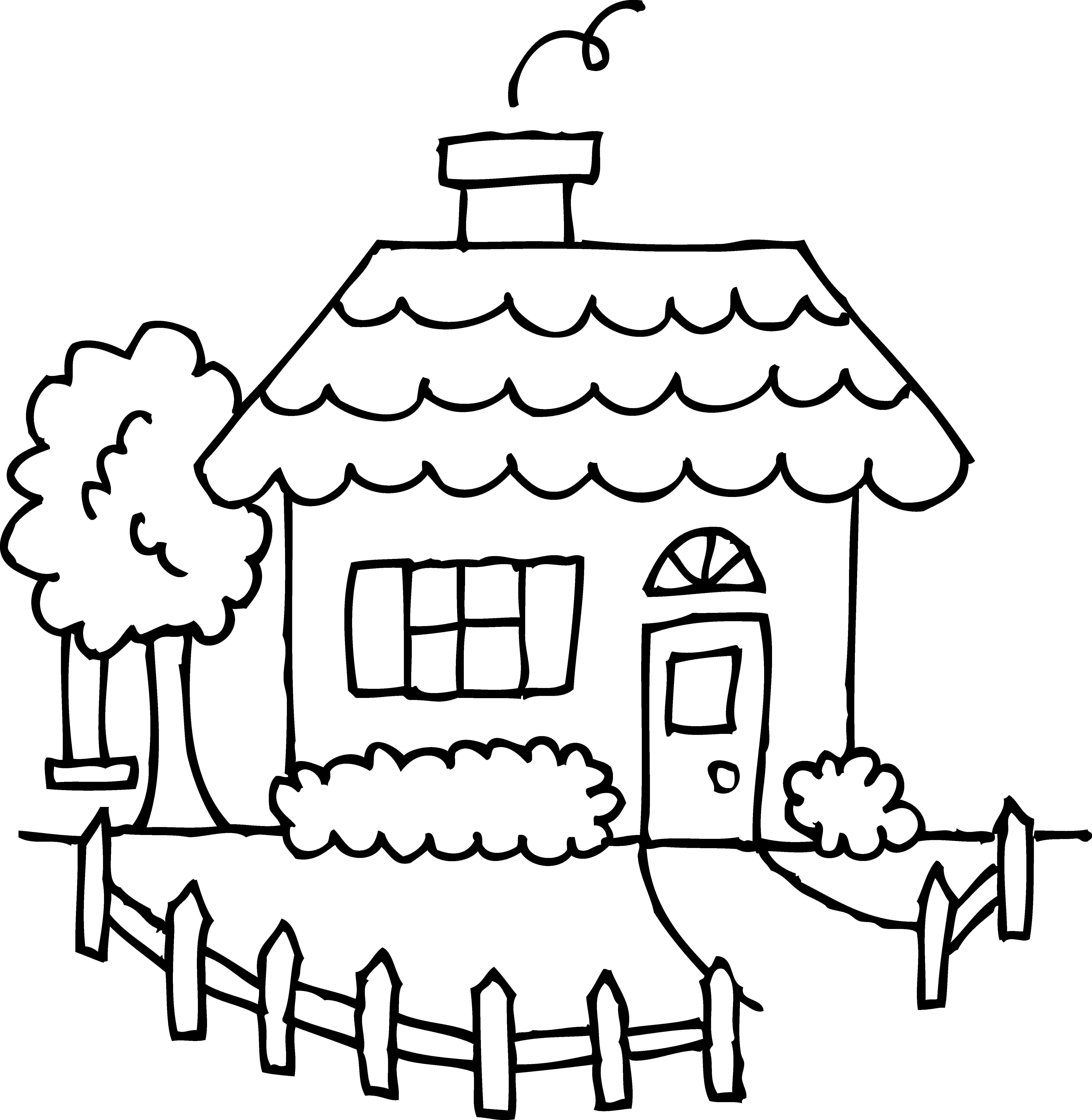 5375x5517 Haunted House Coloring Page Printable Pages Click The Easy