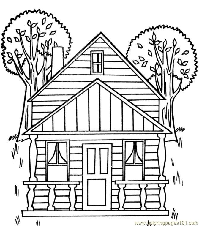 670x761 Adult Houses Coloring Pages Printable Coloring Pages Tree House