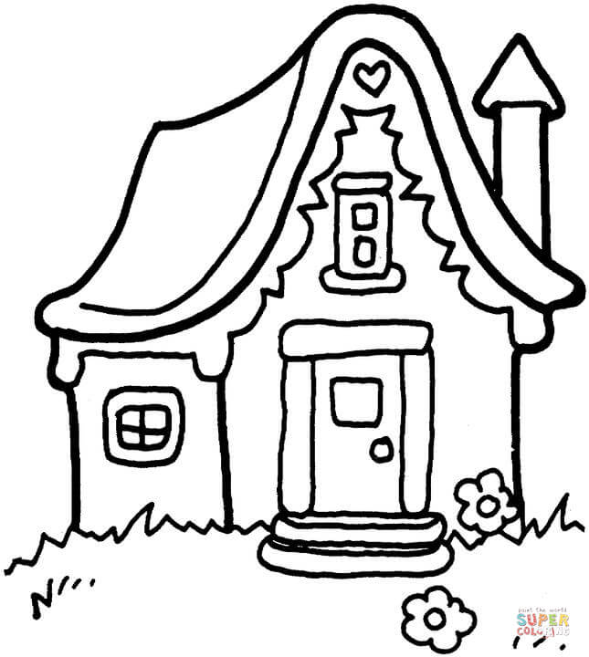 645x720 House Coloring Pages
