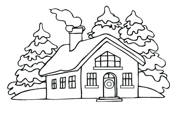 600x379 House Coloring Book White House Coloring Pages House Picture
