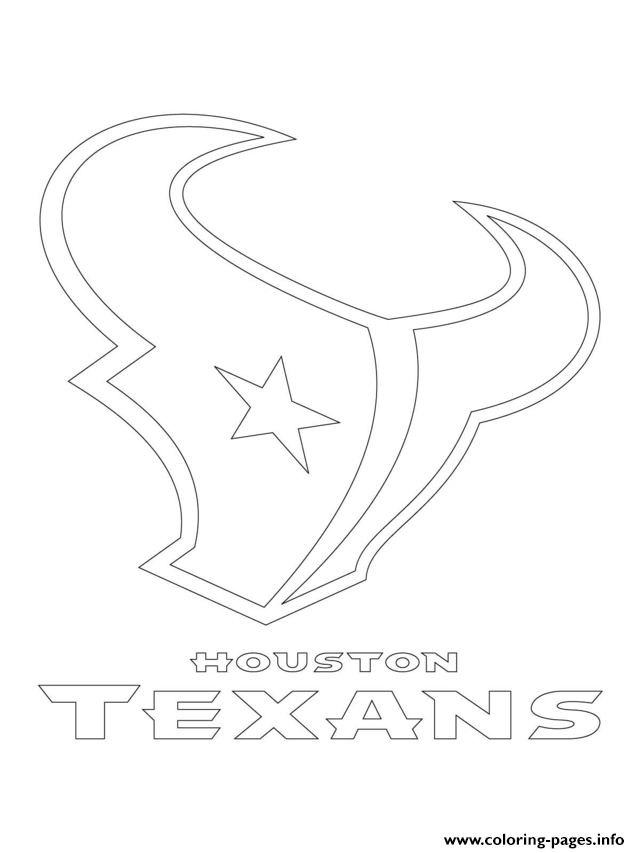 640x853 Houston Texans Logo Football Sport Coloring Pages Printable