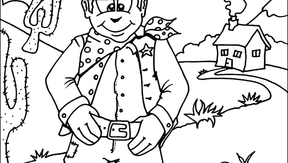 960x544 Rodeo Coloring Pages Coloring Pages For Kids Cowboy With Horse