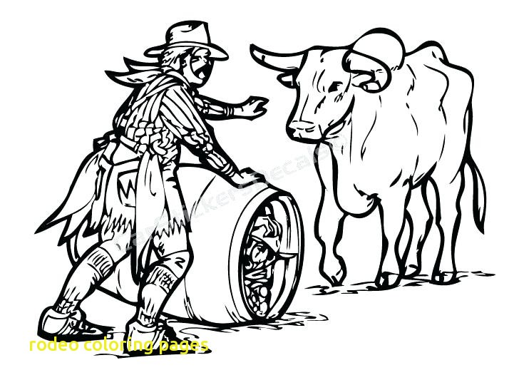 721x540 Rodeo Coloring Pages With Rodeo Coloring Pages Rodeo Clown