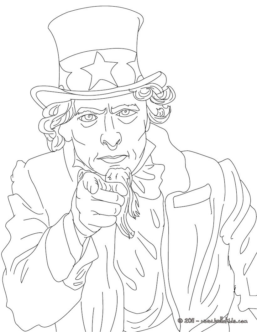 820x1060 Sam Houston Coloring Page