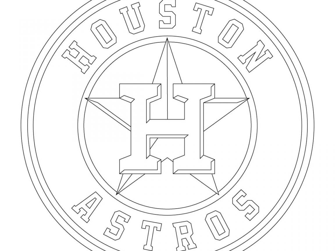 1152x864 Sam Houston Coloring Pages Rockets Logo Texans Astros For Printout
