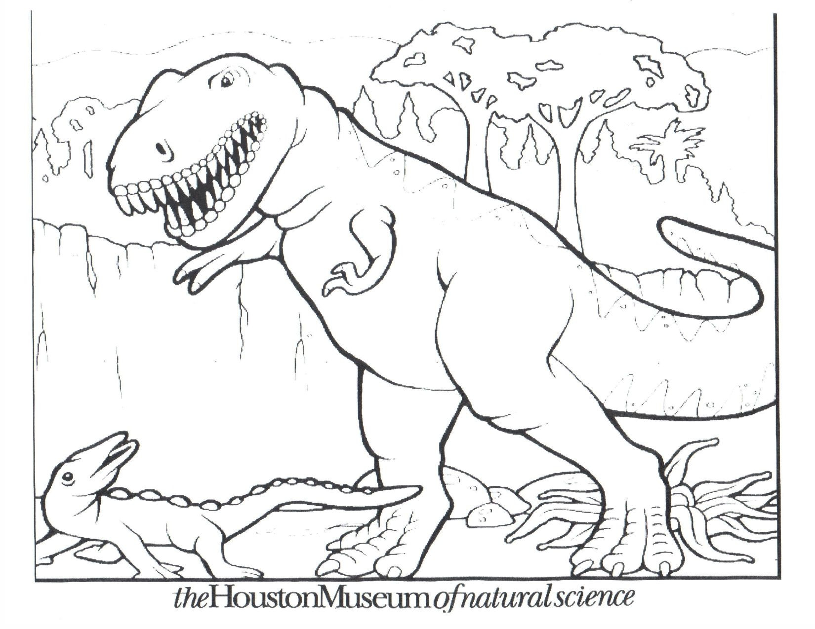 1650x1275 Security Dinosaur Coloring Pages On With Regarding Color Plan
