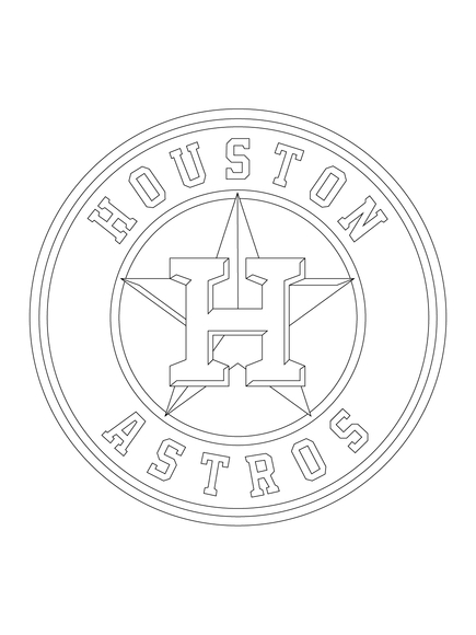 435x580 Houston Astros Coloring Pages