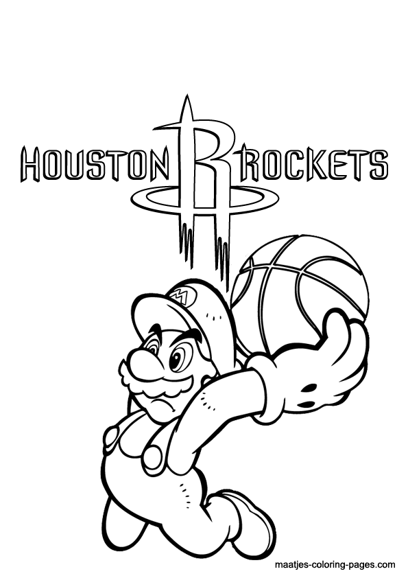595x842 Houston Rockets Coloring Pages