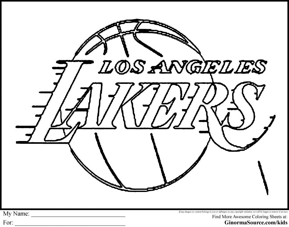 940x739 Lakers Coloring Page