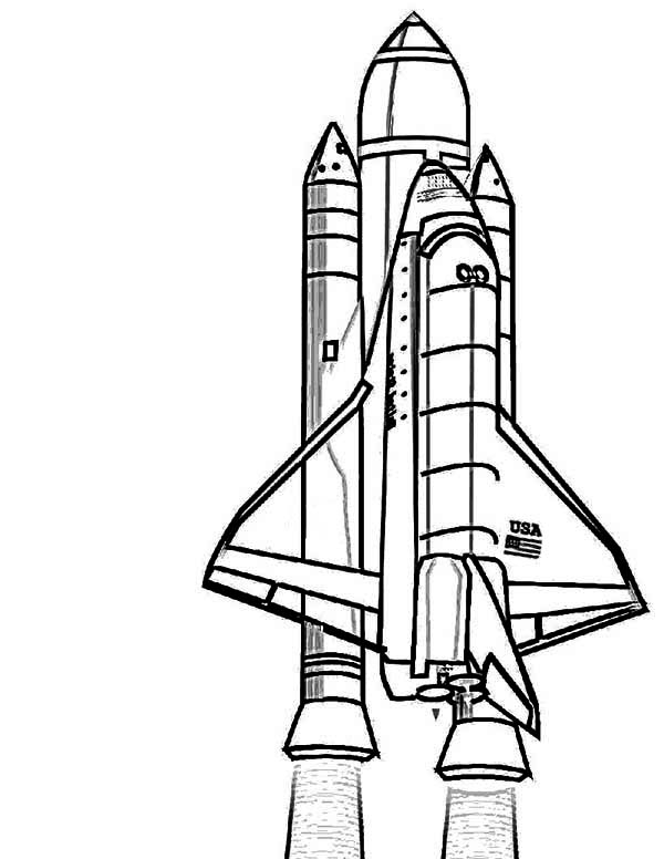 600x776 List Of Synonyms And Antonyms Of The Word Nasa Space Rocket Coloring
