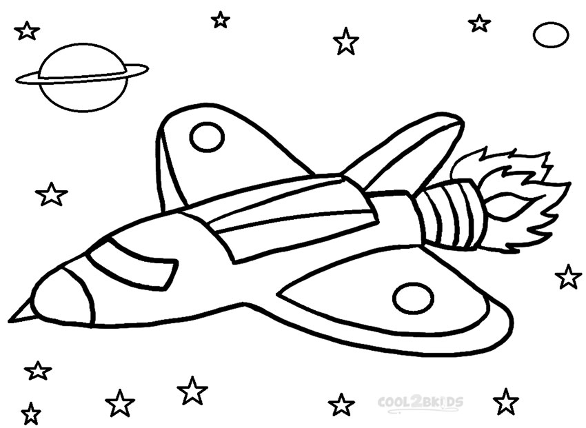 850x621 Printable Rocket Ship Coloring Pages For Kids