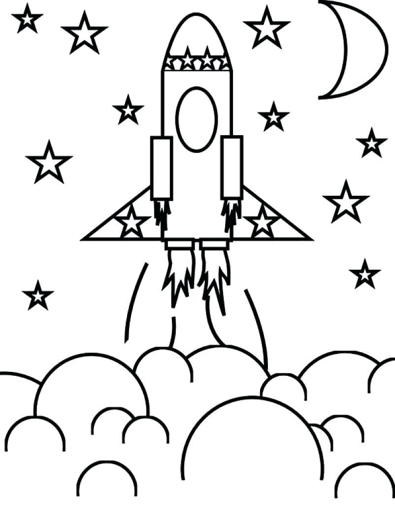 802x1024 Rocket Coloring Pages