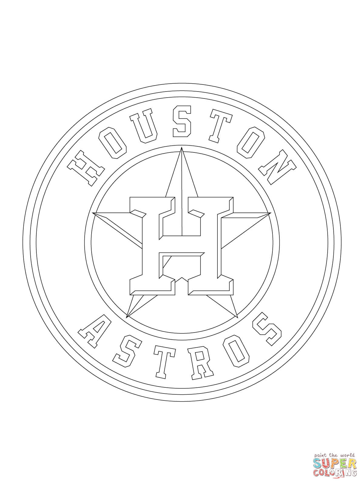 1200x1600 Houston Astros Logo Coloring Page Pages