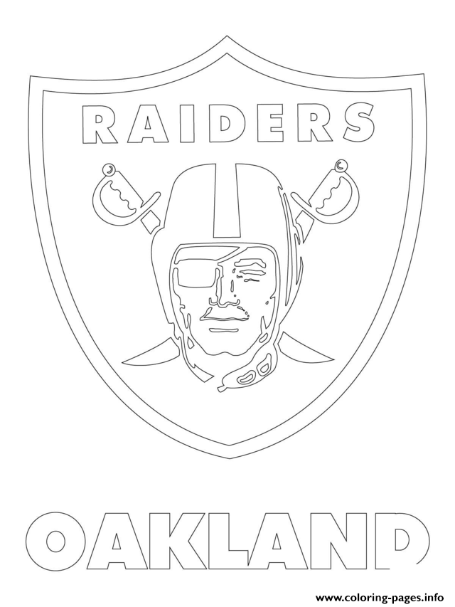 640x853 Oakland Raiders Logo Football Sport Coloring Pages Printable