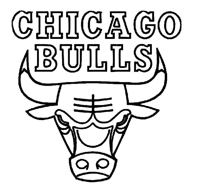 650x640 Chicago Bulls Coloring Page Coloring Pages